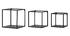 Lote de 3 estanterías de pared cuadradas industrial metal negro KARL