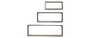 Lote de 3 estanterías de pared rectangulares metal negro y mango YPSTER