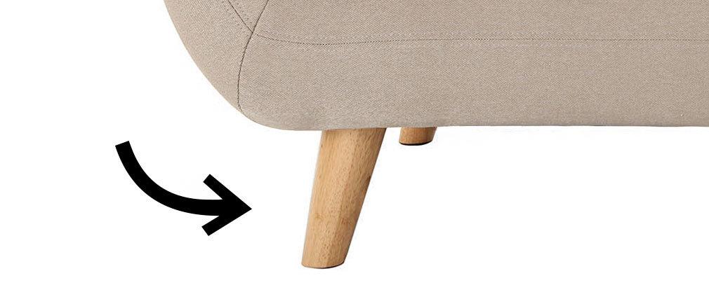 Lote de 4 patas madera clara YNOK