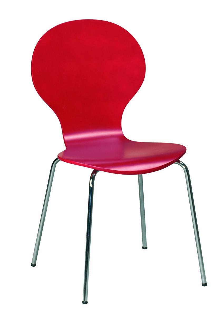 Lote de 4 sillas de cocina comedor de color roja abigail for Tipos de sillas para comedor