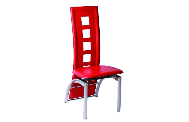 Lote de 4 sillas de cocina comedor de color rojo jackie for Sillas de cocina rojas