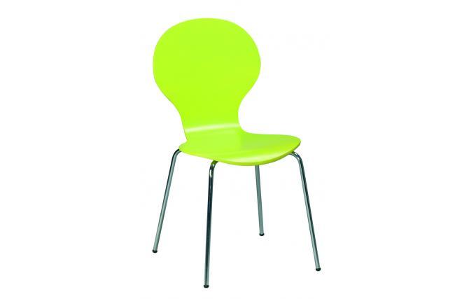 Lote de 4 sillas de cocina comedor de color verde abigail for Sillas de colores para cocina