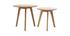 Lote de dos mesas auxiliares redondas roble ORKAD