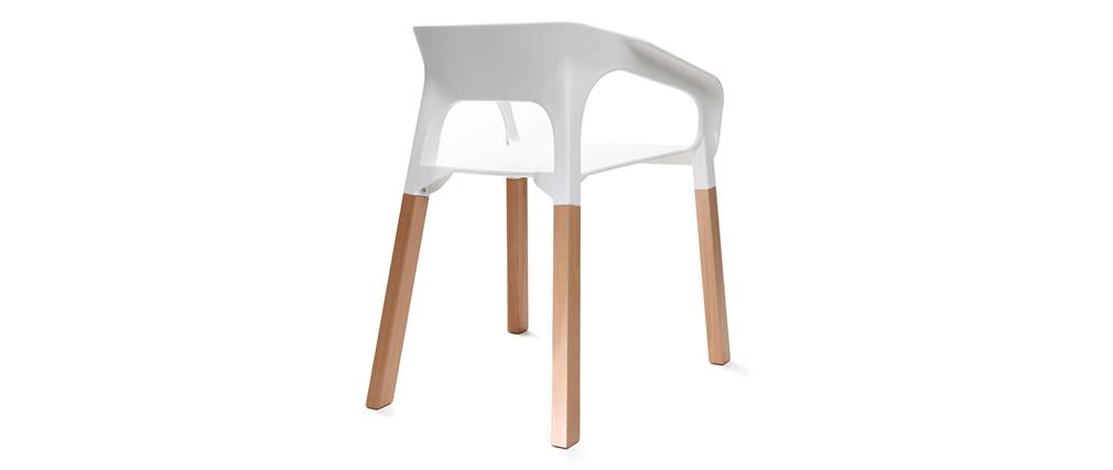 Lote de dos sillas diseño escandinavo blanco HELIA