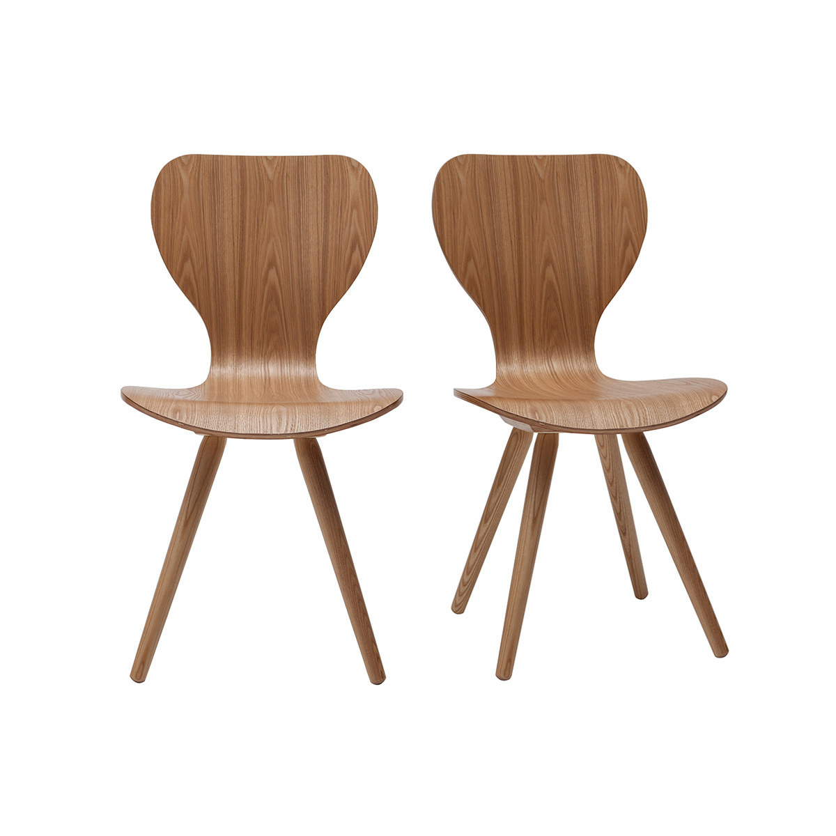 Lote de dos sillas en fresno NORDECO