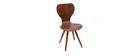 Lote de dos sillas estilo escandinavo en nogal natural NORDECO