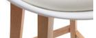Lote de dos taburetes de bar diseño blancos 65cm PAULINE
