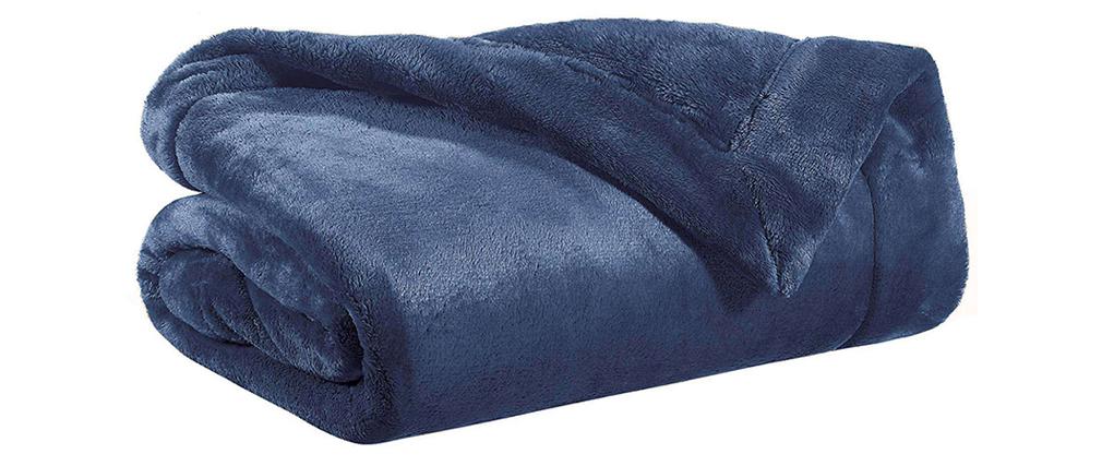Manta en poliéster azul 150 x 200 cm FERO