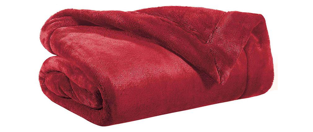 Manta en poliéster rojo 150 x 200 cm FERO
