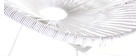 Mecedora hilo de resina blanca BELLAVISTA