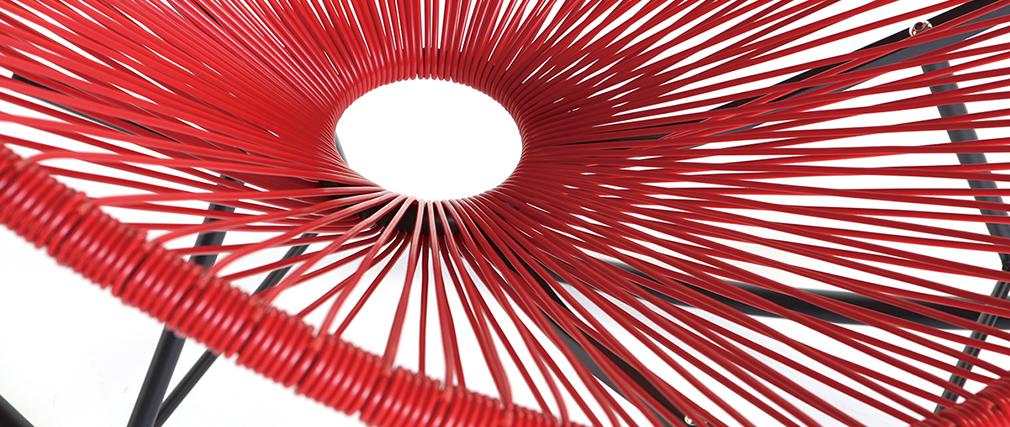 Mecedora hilo de resina roja BELLAVISTA