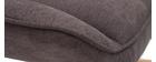 Mecedora moderna en tejido efecto terciopelo gris oscuro BILLIE