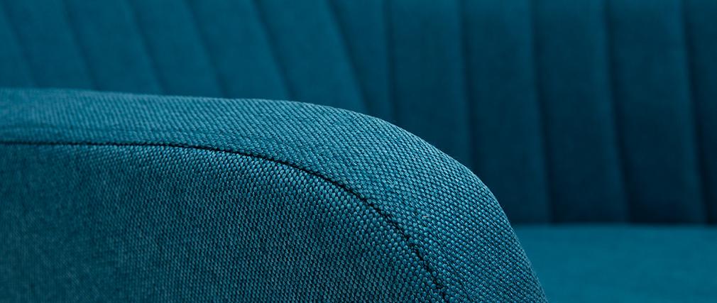 Mecedora nórdica tejido azul petroleo ALEYNA