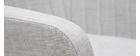 Mecedora nórdica tejido gris claro ALEYNA