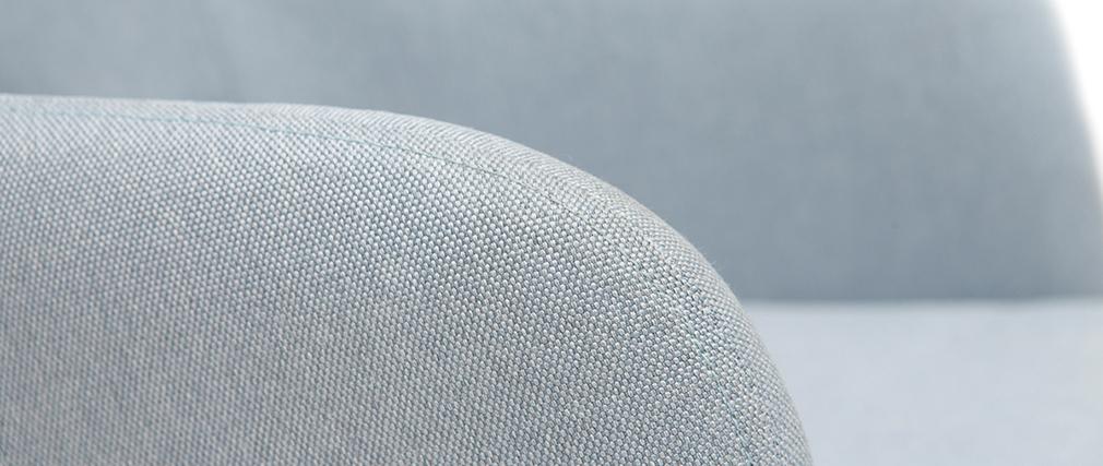 Mecedora nórdica tejido gris claro BALTIK