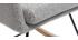 Mecedora nórdica tejido gris claro SHANA