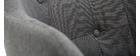 Mecedora nórdica tejido gris oscuro BALTIK