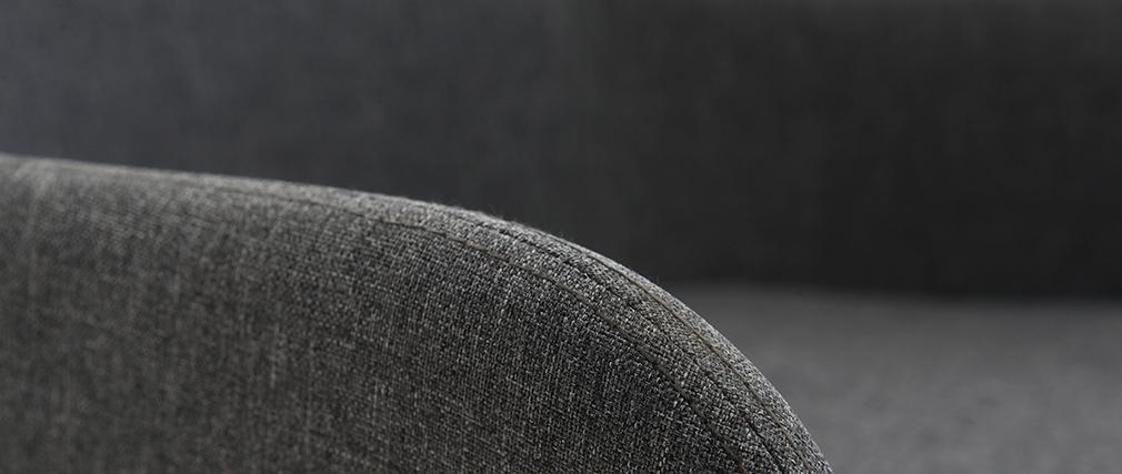 Mecedora nórdica tejido gris oscuro SHANA