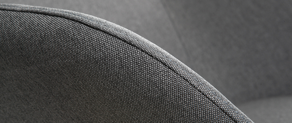 Mecedora tejido gris antracita patas metal y fresno JHENE