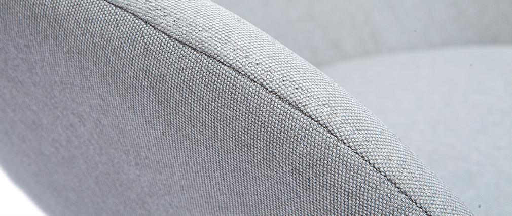 Mecedora tejido gris claro patas metal y fresno JHENE