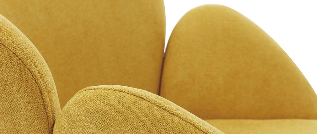 Mecedora terciopelo amarillo mostaza RHAPSODY