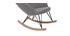 Mecedora terciopelo gris claro patas metal y madera JHENE