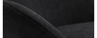 Mecedora terciopelo negro JHENE
