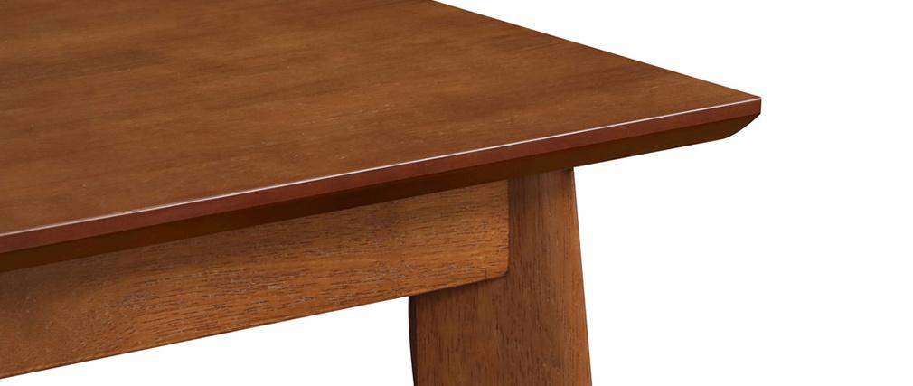 Mesa alta cuadrada madera oscura nogal LEENA