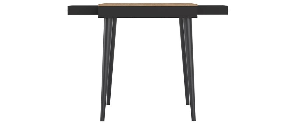 Mesa alta nórdica negra y madera STRIPE