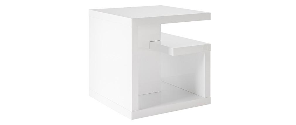 Mesa auxiliar de diseño lacada blanca HALTON