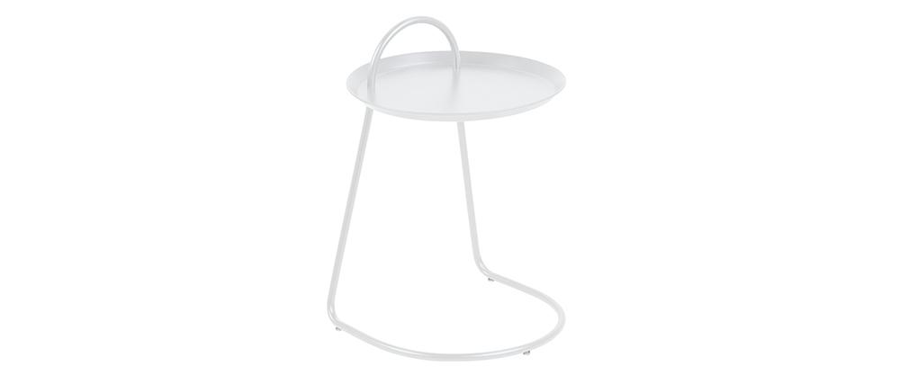 Mesa auxiliar diseño metal blanco MOVE