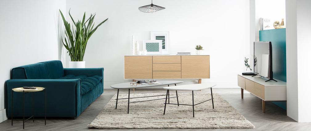 Mesa auxiliar diseño redonda metal dorado LUZ