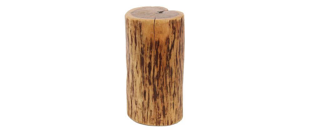 Mesa auxiliar tronco macizo en acacia natural TRUNK
