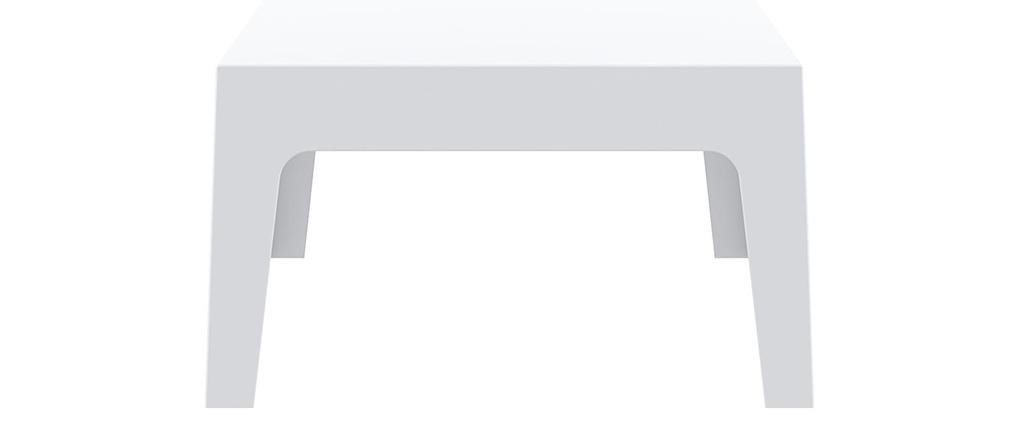 Mesa baja de jardín diseño blanco LALI