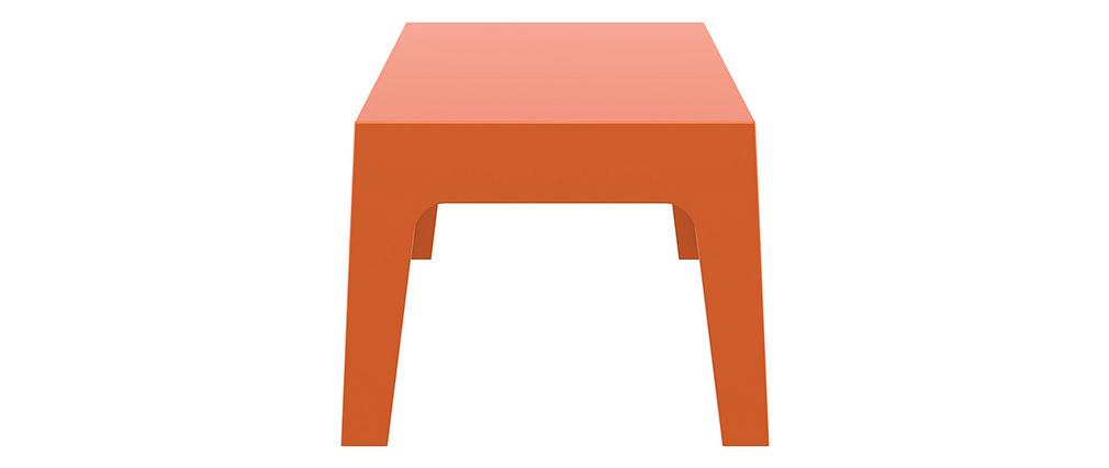 Mesa baja de jardín diseño naranja LALI
