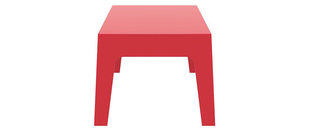 Mesa baja de jardín diseño rojo LALI