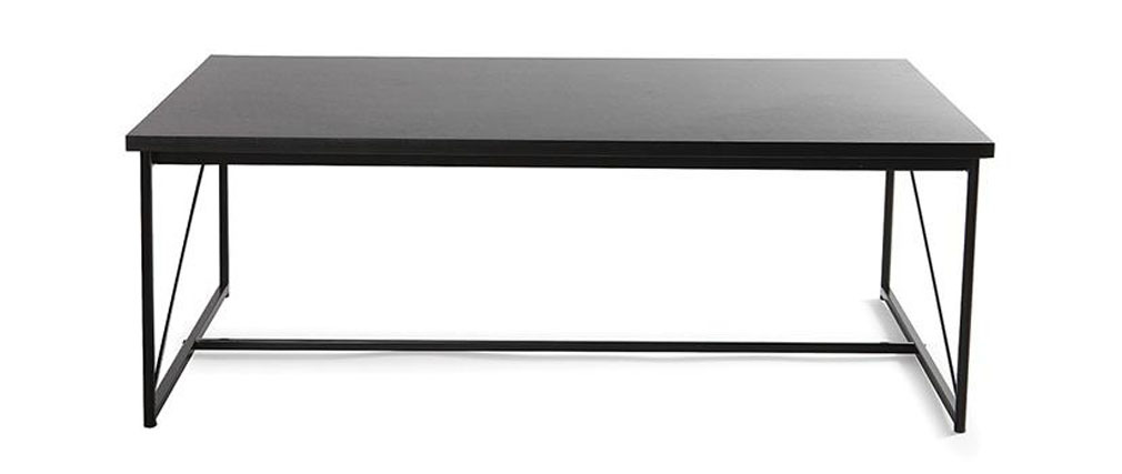 Mesa baja diseño gris y negra WALT