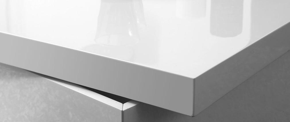 Mesa baja diseño lacada blanca JANA