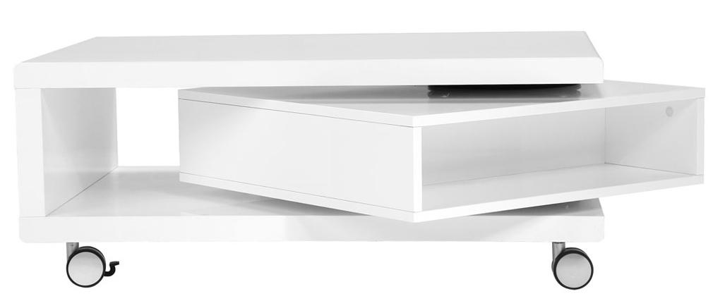 Mesa baja diseño lacado blanco LIVO