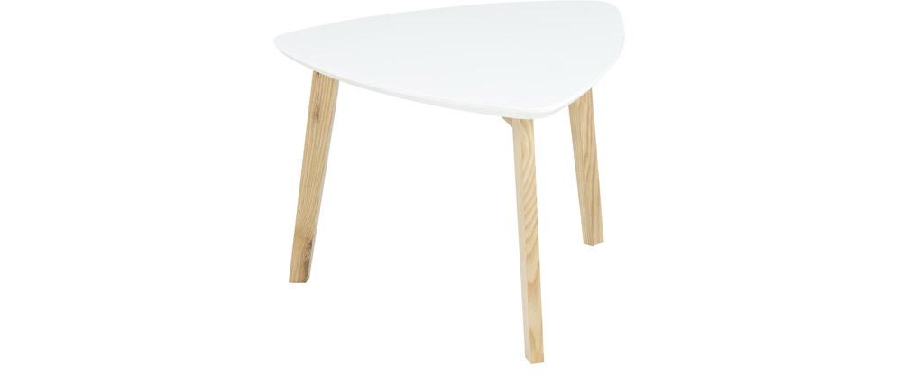 Mesa baja diseño triangular blanco SARA