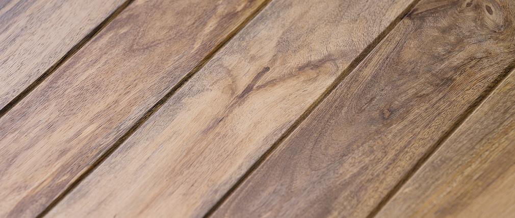 Mesa baja industrial de madera y metal ATELIER