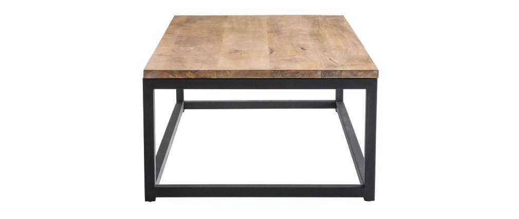 Mesa baja industrial de madera y metal FACTORY