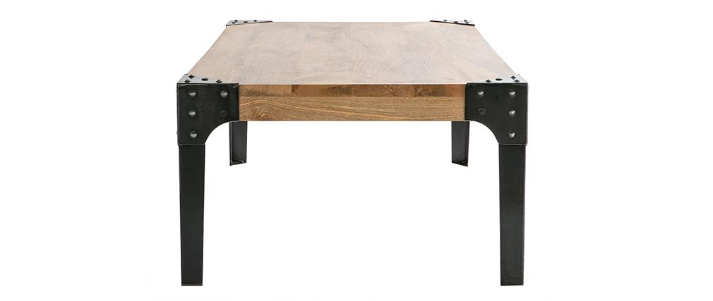 Mesa baja industrial de madera y metal MADISON