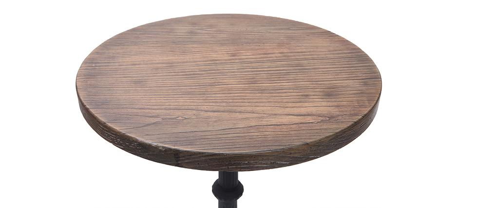 Mesa bistro alta redonda madera y metal CONTY