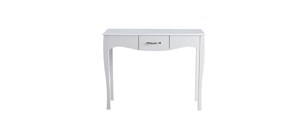 Mesa consola diseño clásico lacada blanca MARGOT