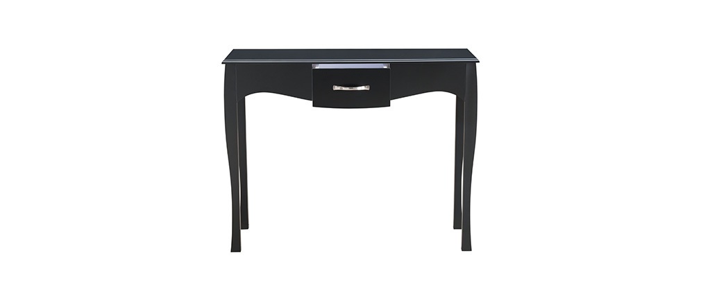 Mesa consola diseño clásico lacada negra MARGOT