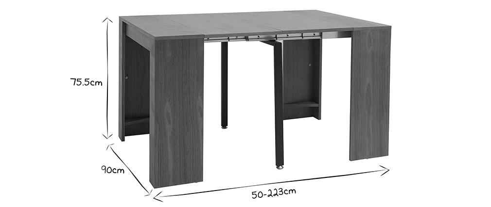 Mesa consola extensible nogal CALEB