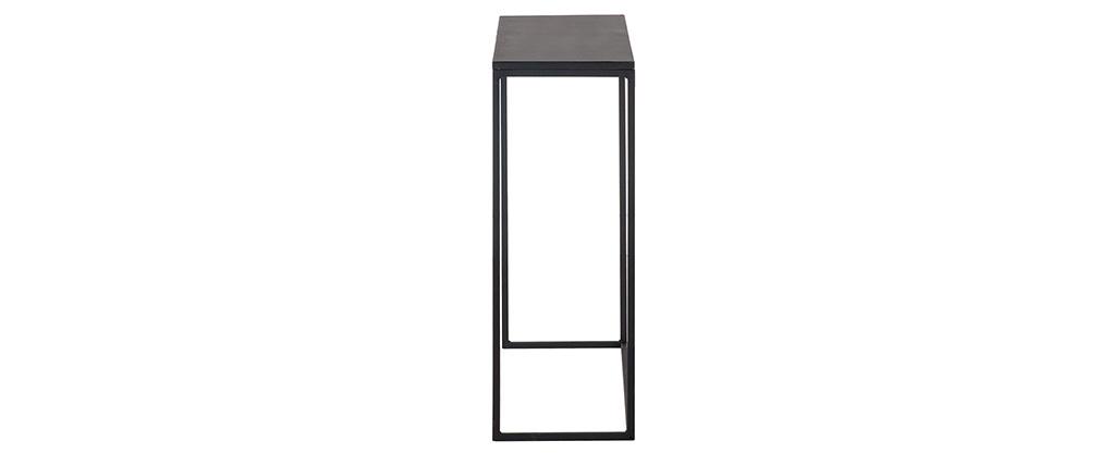 Mesa consola industrial metal negro KARL
