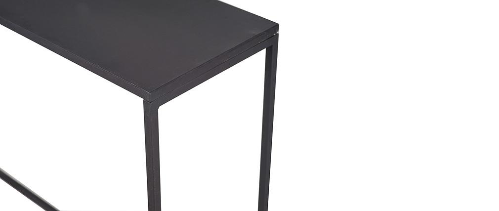Mesa consola industrial metal negro L100 cm KARL
