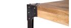 Mesa de bar cuadrada diseño industrial madera y metal MADISON